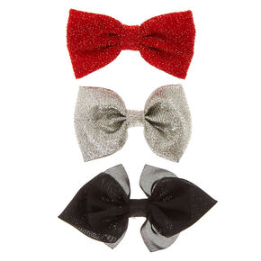 Holiday Glam Hair Bow Clips 3 Pack,