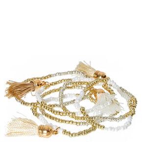 Mixed Metallic Tassel Bracelets,