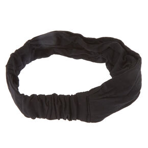 Black Jersey Turban Headwrap,