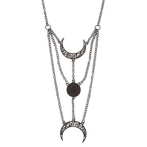 Triple Moon Goddess Necklace,