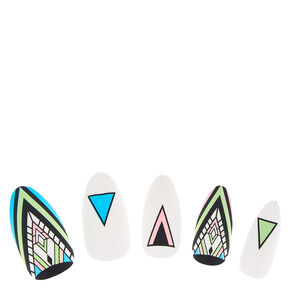 Matte Aztec Pattern Fake Nails,