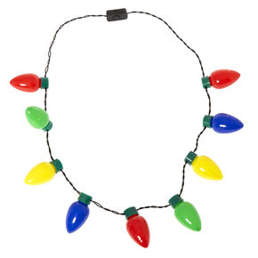 Giant Light Up Christmas Tree Bulbs Necklace,