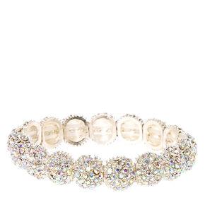 Glittery Silver Ball Bracelet,