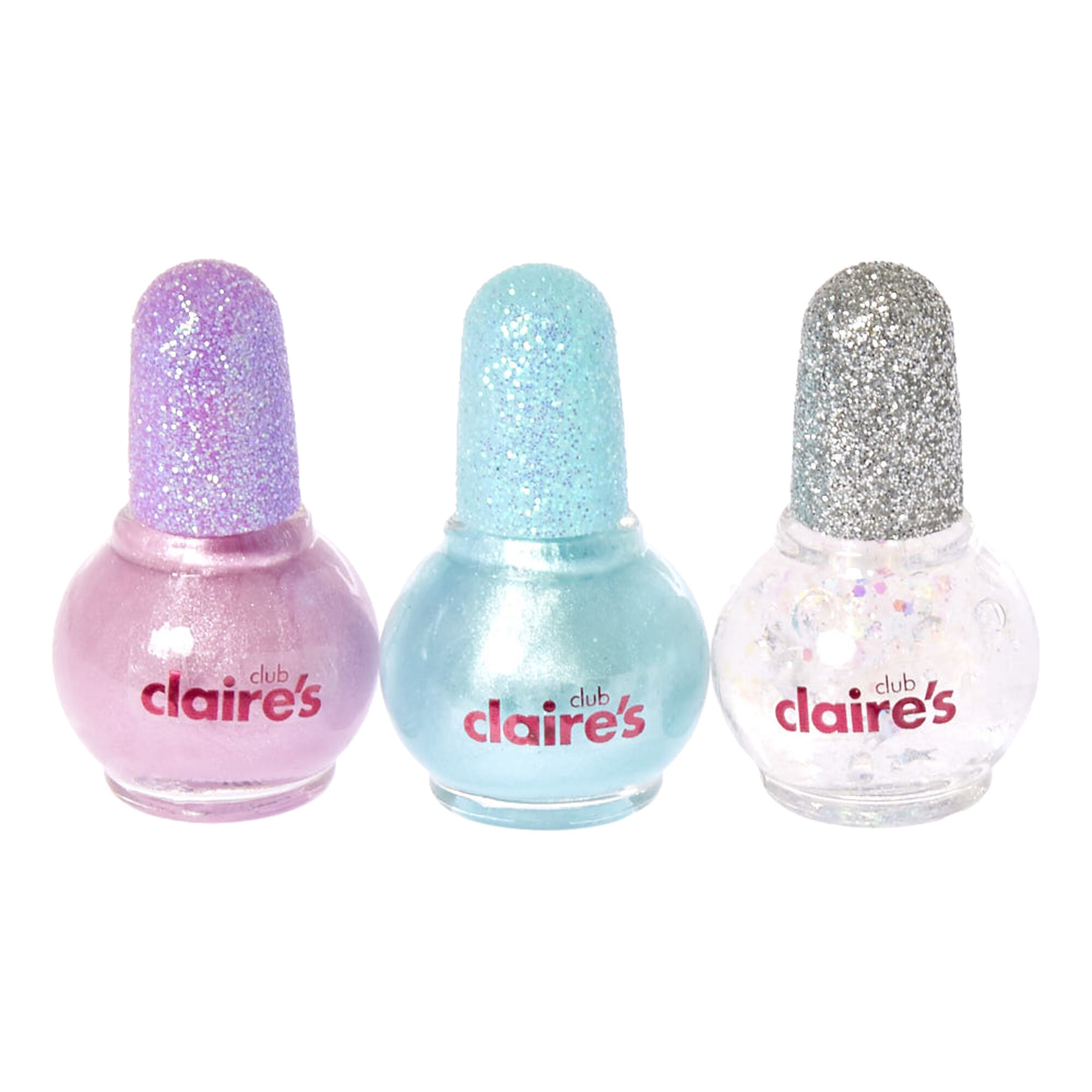 Kids Glittery Pastel Mini Water Based Nail Polish Set