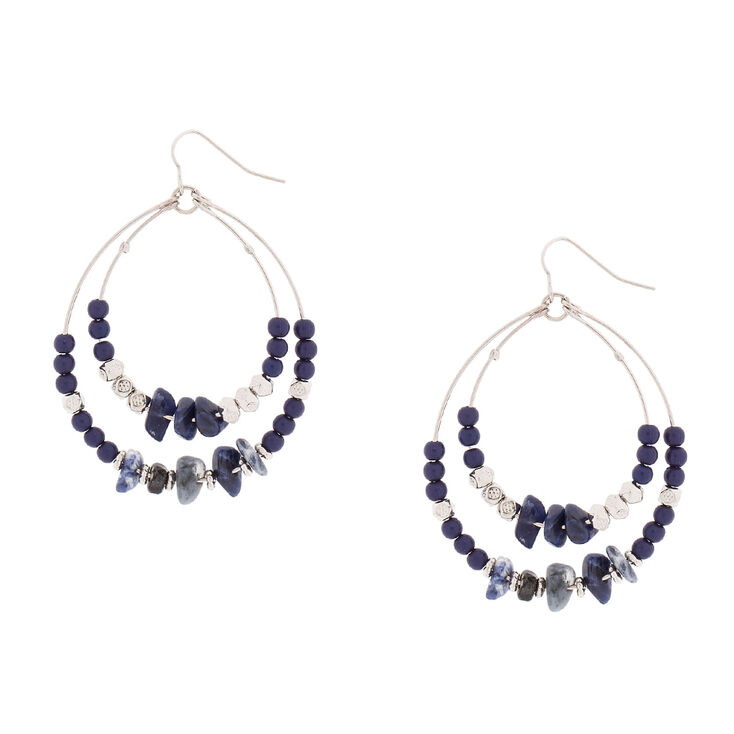 Semi-Precious Stone Drop Earrings,