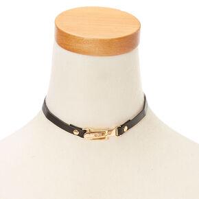 Gold and Black Belt Choker Necklace,