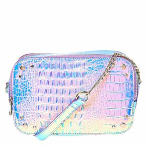 Holographic Mermaid Crossbody Camera Bag,