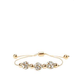 Gold Toned Glitter Stretch Bracelet,