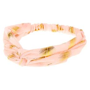Gold Leaf Blush Headwrap,