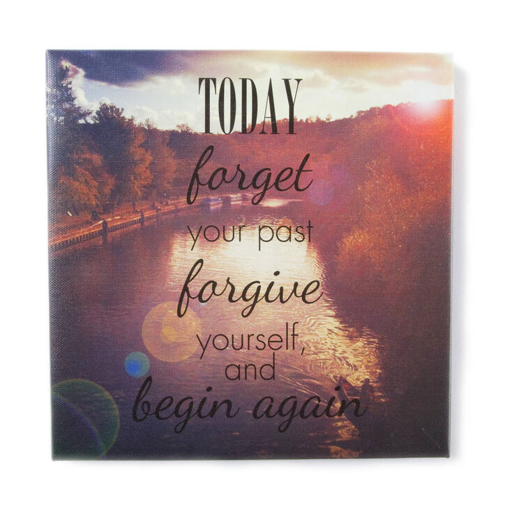 Today Forget Your Past Wall Canvas,