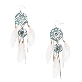 Patina Dreamcatcher Drop Earrings,