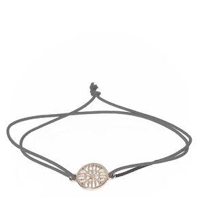 Silver Double Stretch Bracelet with Filigree Charm,