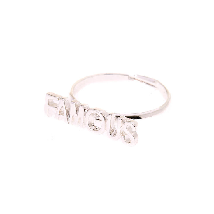 Silver-Tone FAMOUS Adjustable Ring,