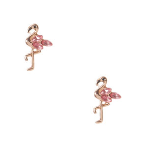 18 Kt Gold Plated Flamingo Stud Earrings,