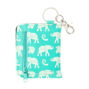 Elephant ID Card Holder Key Ring,