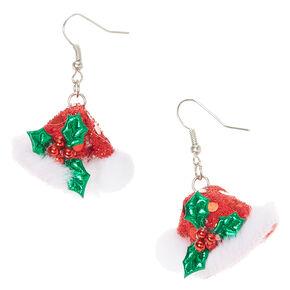 Santa Hat Drop Earrings,