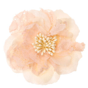 Ivory Lace Flower Hair Clip,