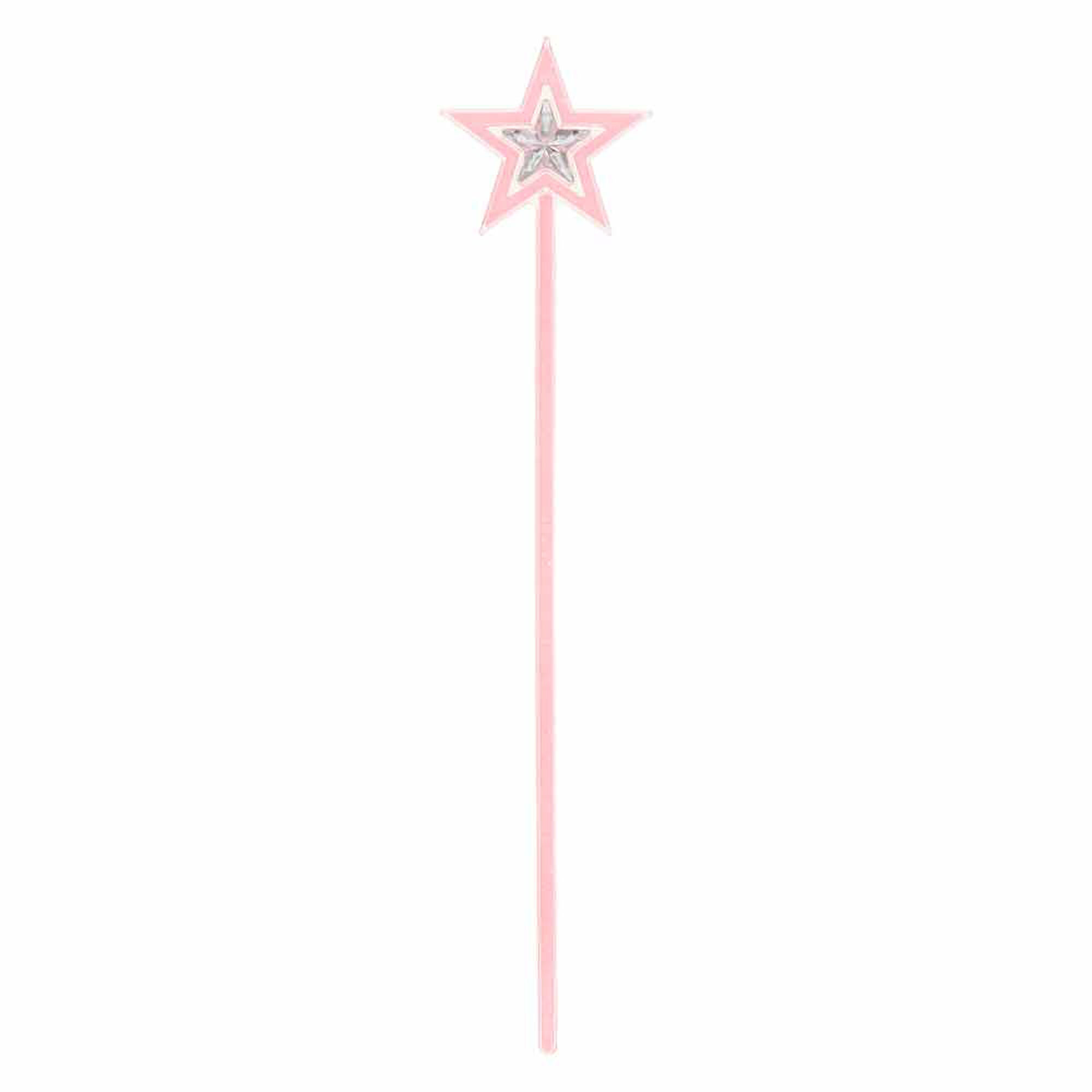 kids glow in the dark pink glitter star wand claire 39 s us. Black Bedroom Furniture Sets. Home Design Ideas