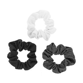 Black, White and Gray Jersey Scrunchies,