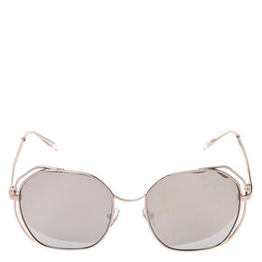 Round Retro Mirrored Sunglasses,