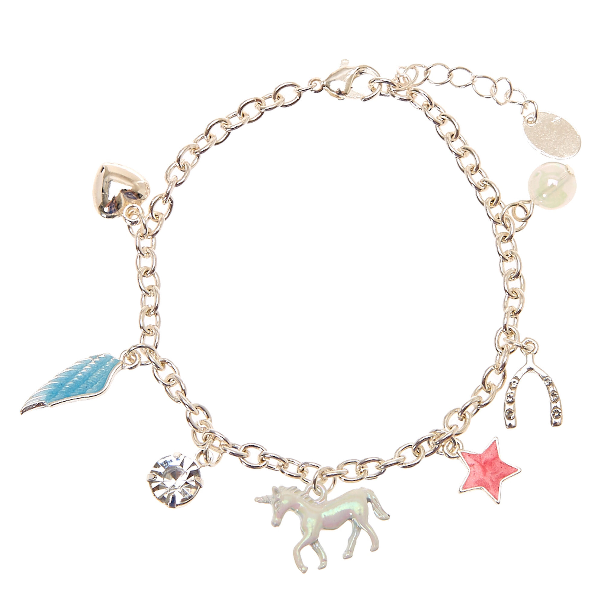 Unicorn Dream Charm Bracelet  Claire's Us. Red Stone Engagement Rings. Celtic Lockets. Bar Light Pendant. Popular Necklace. Pink Diamond. Sterling Silver Bangle Bracelets. Broken Wedding Rings. Sapphire Bands