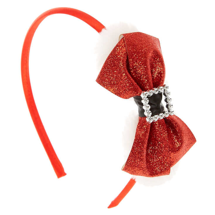 Santa Bow Buckle Headband,