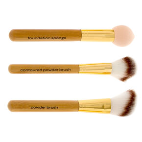 Bamboo Face Definition Makeup Brush Set of 3,