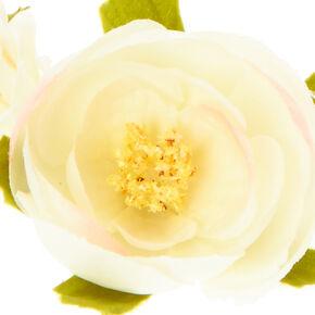 White Flower Hair Garland,