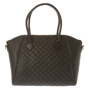 Black Quilted Tote,