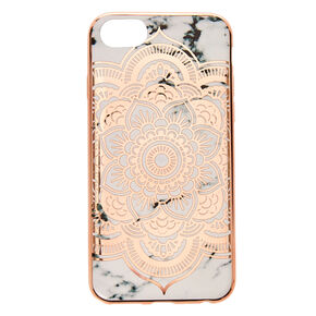 Rose Gold Mandala Marble Phone Case,