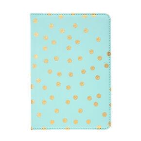 Mint & Gold Polka Dot Tablet Case,