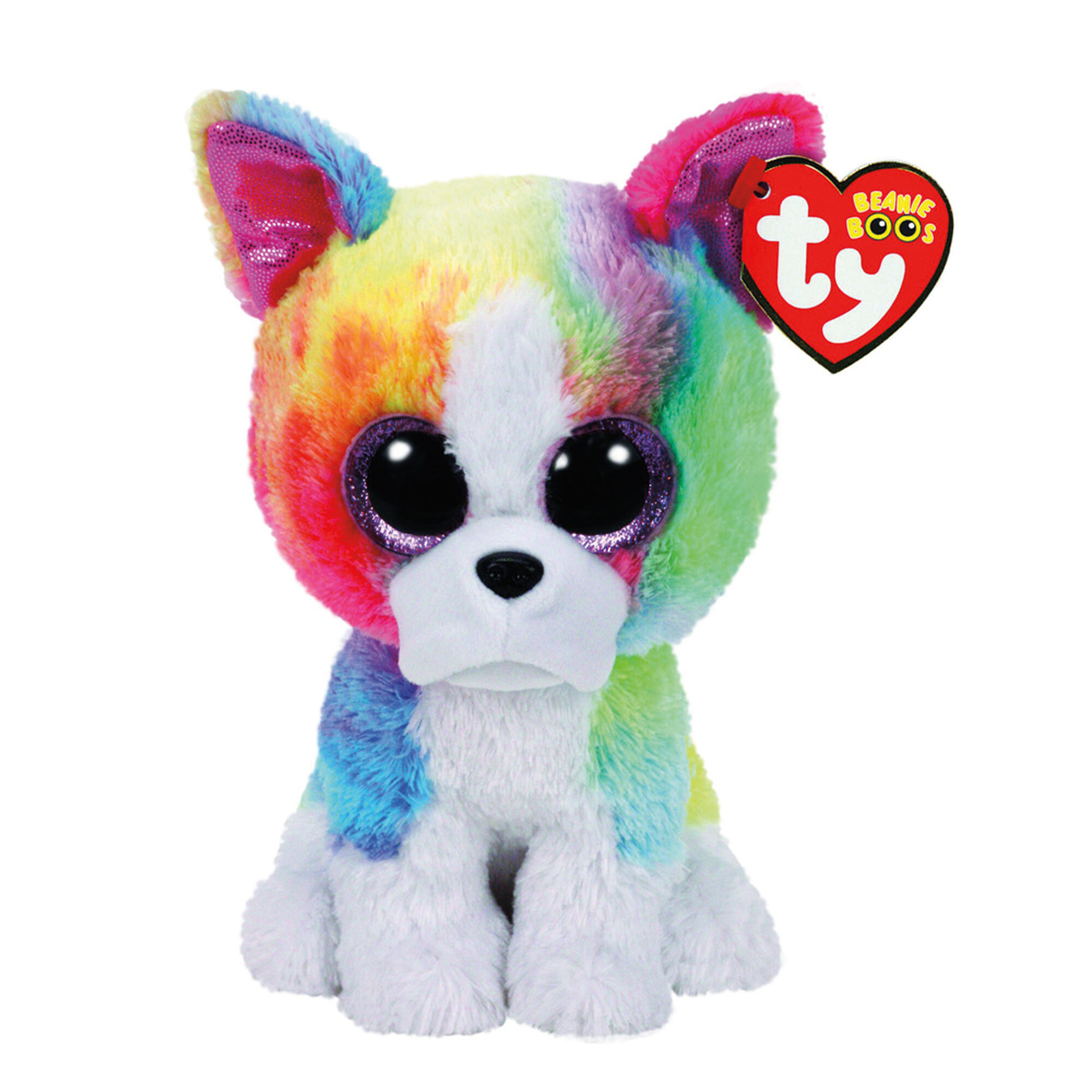 TY Beanie Boo Small Isla the Rainbow Bulldog Plush Toy