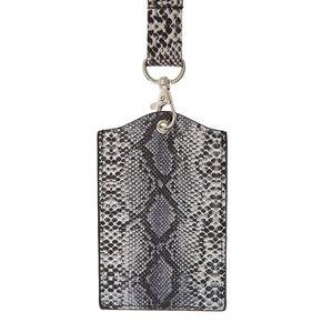 Snake Skin Print Keyring Id Holder,