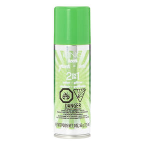 2 in 1 Neon Green Glitter Hair Spray,