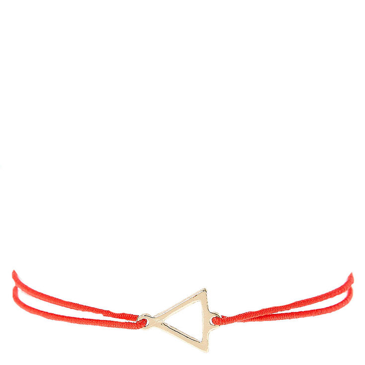 Red Double Stretch Bracelet with Triangle Charm at Icing in Victor, NY | Tuggl