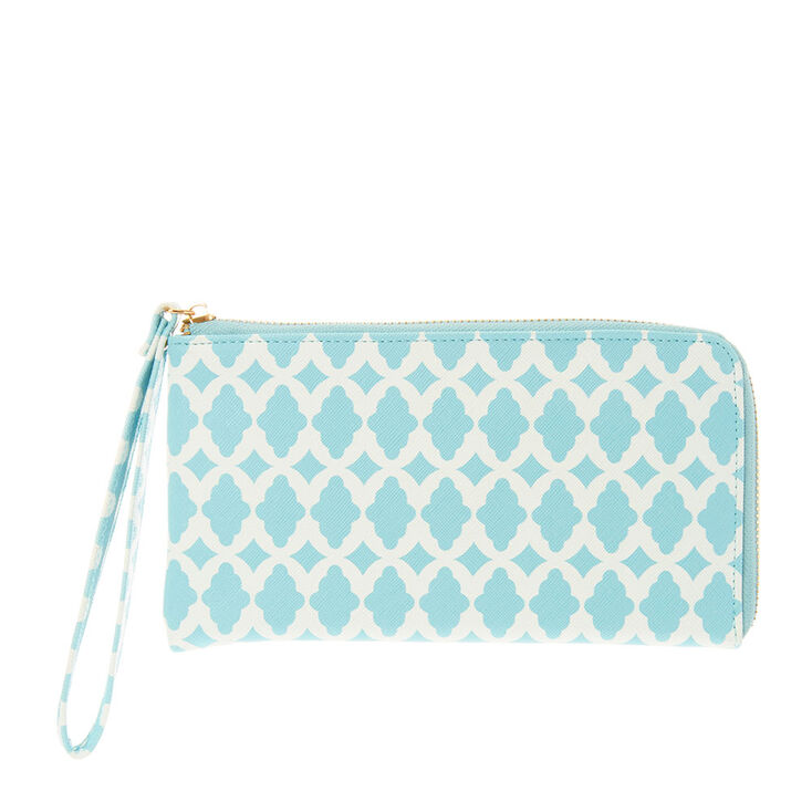 Mint Quartrefoil Print Wristlet Wallet at Icing in Victor, NY | Tuggl