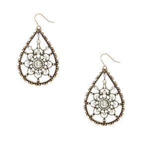 Antique Crystal Drop Earrings,