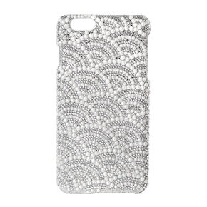 Scalloped Rhinestone and Pearl Phone Case,