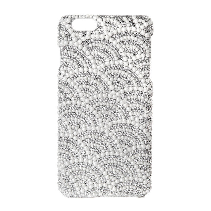 Scalloped Rhinestone and Pearl Phone Case at Icing in Victor, NY | Tuggl