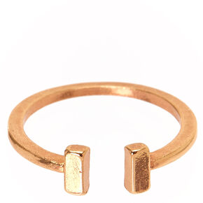 Rose Gold Open Cuff Ring,