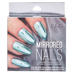 Mint Chrome Powder Nails Kit,