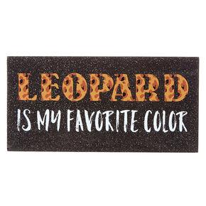 Leopard Favorite Color Wood Block Art,