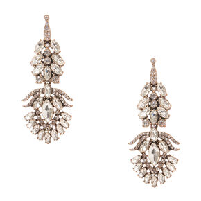 Vintage Marque Crystal Drop Earrings,