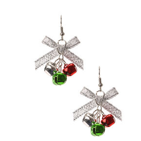 Holiday Sleigh Bell Drop Earrings,
