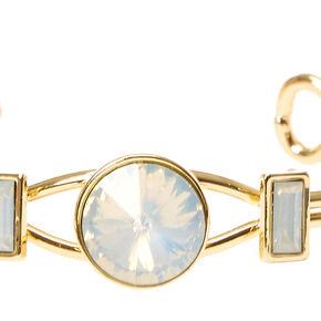 Opal Square Gem Cuff Bracelet,