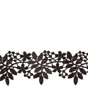 Black Floral Lace Choker,