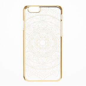 Clear & Gold Mandala Design Phone Case,
