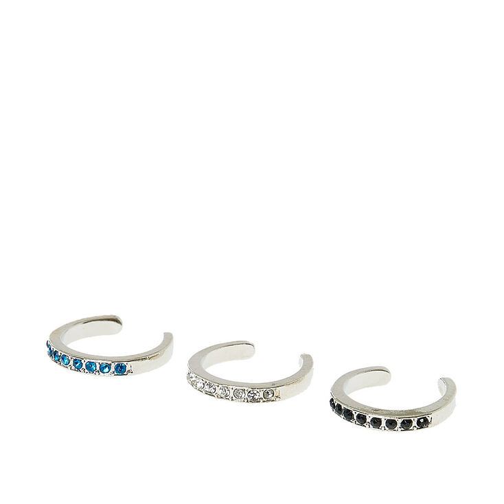 Multi Colored Faux Crystal Toe Ring Set,