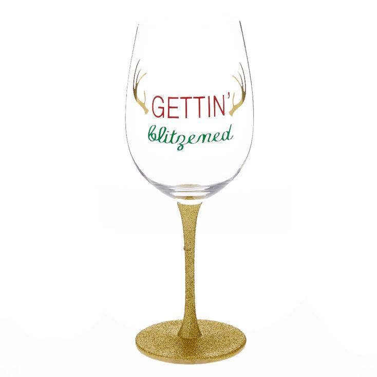 Gettin' Blitzen Wine Glass,