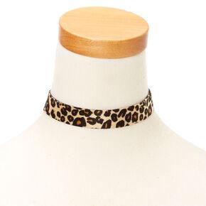 Leopard Reversible Choker Necklace,